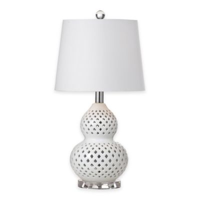 Bassett Mirror Company Oberlin Table Lamp in White
