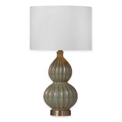 Bassett Mirror Company Cordova Table Lamp in Blue/Green