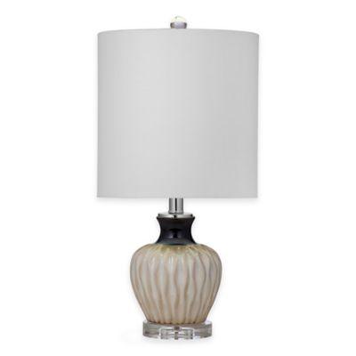 Bassett Mirror Company Aiken Table Lamp in Beige