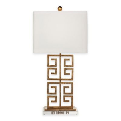 Bassett Mirror Company Stuckey Table Lamp in Gold Leaf