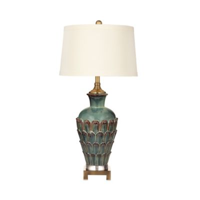 Bassett Mirror Company Exetor Table Lamp in Blue