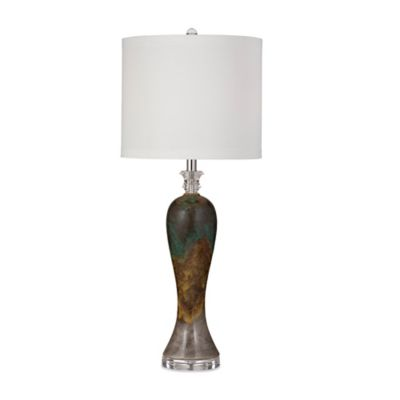 Bassett Mirror Company Reddick Table Lamp in Green/Grey