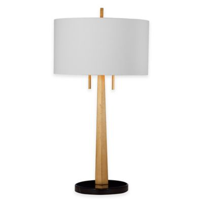 Bassett Mirror Company Justine Table Lamp in Gold Leaf