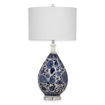 Bassett Mirror Company Elwell Table Lamp in Royal Blue