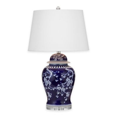 Bassett Mirror Company Brohman Table Lamp in Royal Blue