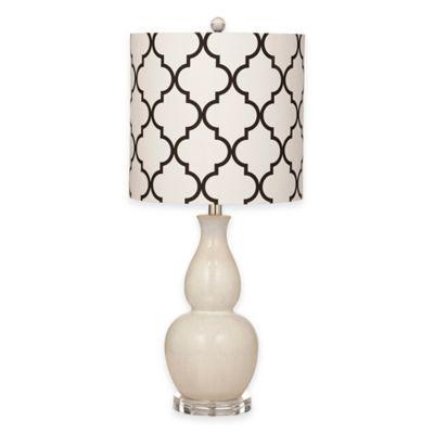 Bassett Mirror Company Benton Table Lamp in Cream