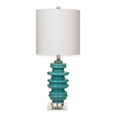Bassett Mirror Company Jordan Table Lamp in Turquoise