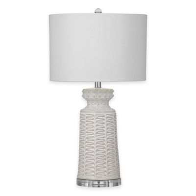 Bassett Mirror Company Sidney Table Lamp in White
