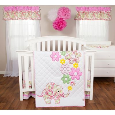 Trend Lab® Elephant Flowers 3-Piece Crib Bedding Set