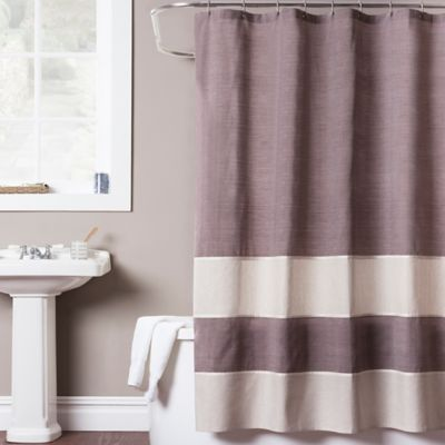 Structure 72-Inch x 84-Inch Extra-Long Shower Curtain in Burgundy
