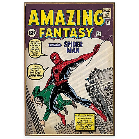 Spiderman Fantasy 1st Appearance Wall D 233 Cor Plaque