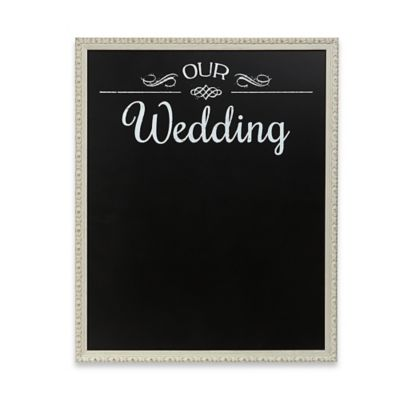 """Our Wedding"" Framed Chalkboard Wall Plaque"