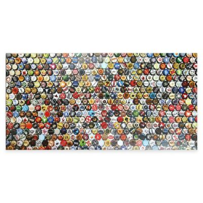Hop Art Lacquer Bottle Cap Canvas Wall Art