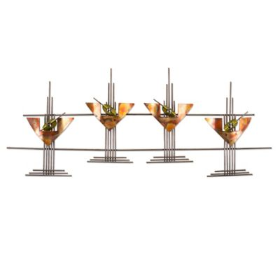 Martini Glasses Metal Wall Art Sculpture
