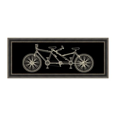 Contemporary Tandem Bicycle Diagram Wall Decor