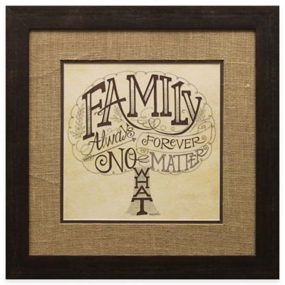 "Family Tree ""Always and Forever"" Framed Wall Art"