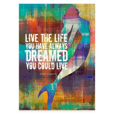 """Live the Life"" Canvas Wall Art"