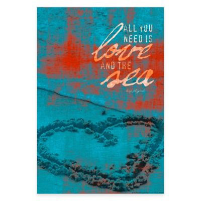 """All You Need is Love"" Canvas Wall Art"