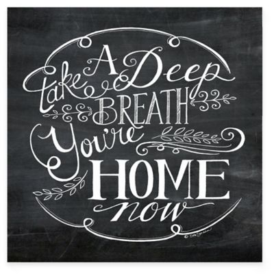 """You are Home"" Canvas Wall Art"