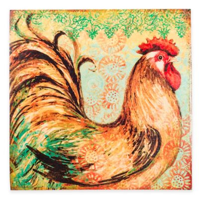 Country Rooster Canvas Wall Art