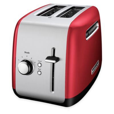 Red All-Metal Toaster