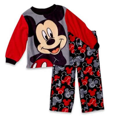 Disney® Mickey Mouse Size 12M 2-Piece Long-Sleeve Pajama Set in Red