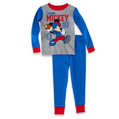 Disney® Mickey Mouse Size 12M 2-Piece Long-Sleeve Pajama Set in Blue