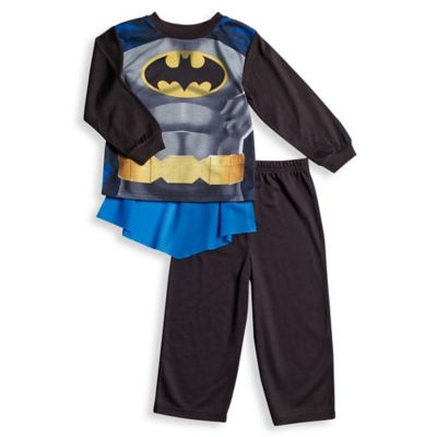 Disney® Batman Size 2T 2-Piece Pajama Set with Cape in Black