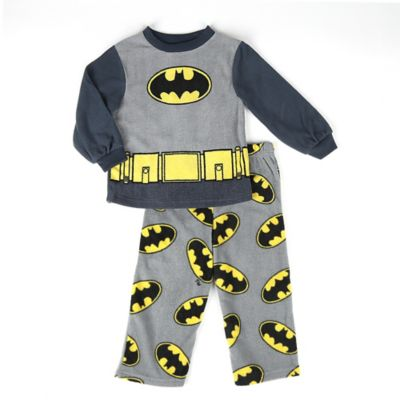 DC Comics™/Warner Bros® Batman Size 12M 2-Piece Long-Sleeve Pajama Set in Black