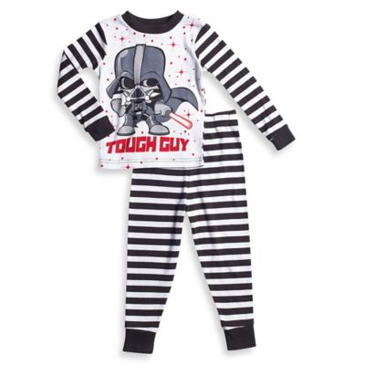 Disney® Star Wars Size 2T 2-Piece Pajama Set in Black/White