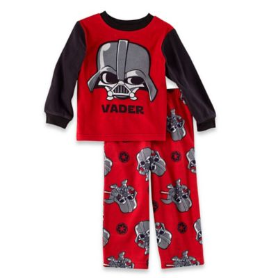 Disney® Star Wars Size 3T 2-Piece Darth Vader Long-Sleeve Pajama Set in Red