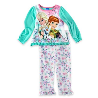 "Disney® ""Frozen"" Size 2T 2-Piece Long Sleeve Pajama Set in Light Blue"