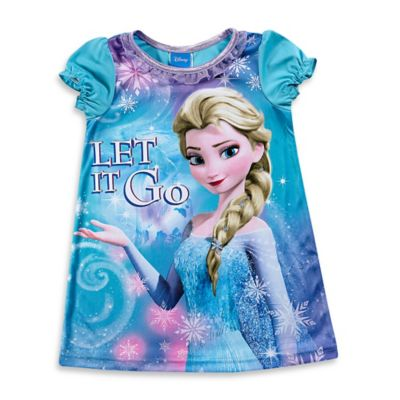 "Disney® ""Frozen"" Size 2T Elsa ""Let It Go"" Nightgown in Light Blue"