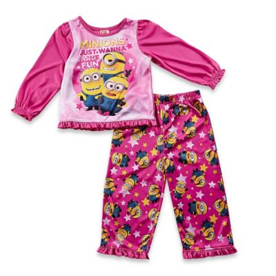 Disney® Minion Size 3T 2-Piece Pajama Set in Pink