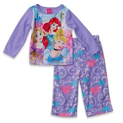 Disney® Princess Size 12M 2-Piece Long-Sleeve Pajama Set in Purple