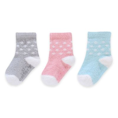 Carter's® Size 3-12M 3-Pack Polka Dot Chenille Socks