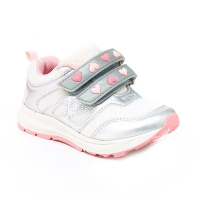 Carter's® Marcel Size 7 Heart Athletic Sneaker in White/Pink
