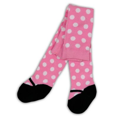 BabyLegs® Size 0-6M Polka Dot Mary Jane Tights in Pink