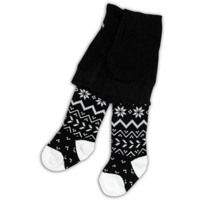 BabyLegs® Size 0-6M Fairisle Tights in Black