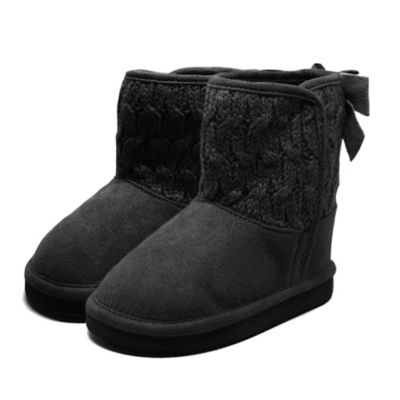 Stepping Stones Size 5 Lurex Cable Knit Boot with Bow