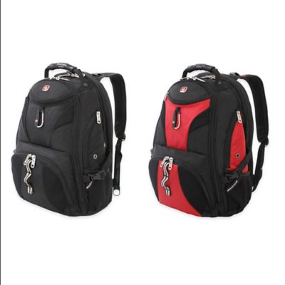 Wenger SwissGear ScanSmart 18-Inch Backpack in Black/Red