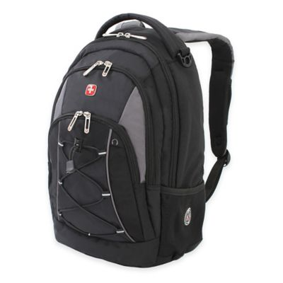 Wenger SwissGear 17.5-Inch Bungee Backpack in Black/Grey