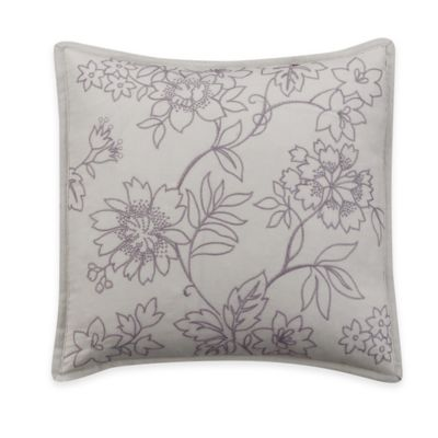 Helena Square Throw Pillow in Purple