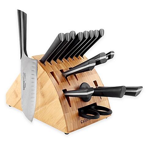 calphalon 174 katana series 18 piece cutlery knife block set calphalon katana series cutlery 14 piece knife block set