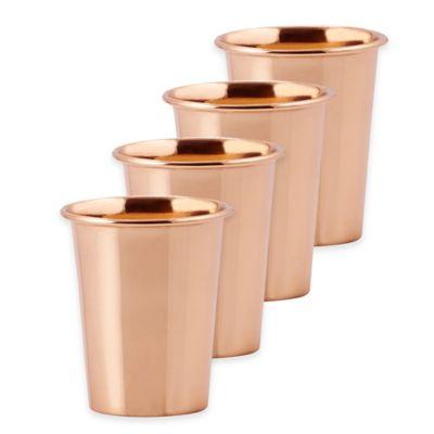 Old Dutch International Flared Copper 4-Pieced Tumbler Set