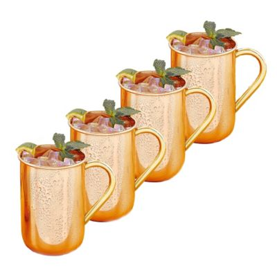Old Dutch International Solid Copper Moscow Mule Mugs (Set of 4)