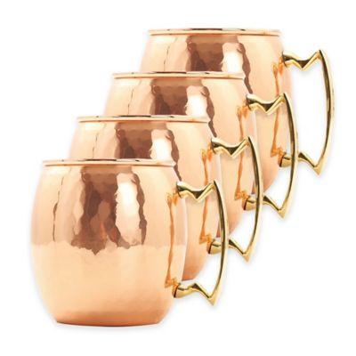 Solid Copper Cocktail Glasses