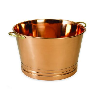 Old Dutch International 7-Gallon Copper-Plated Beverage Tub