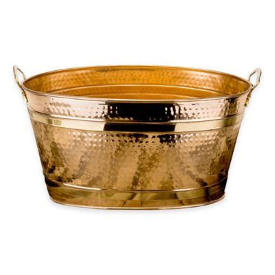 Old Dutch International 11-Gallon Copper-Plated Hammered Beverage Tub