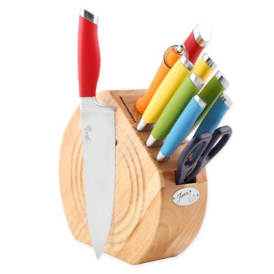 Fiesta® Multi-Colored 11-Piece Knife Block Set